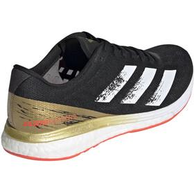 adidas Adizero Boston 9 Shoes Women core black/footwear white/gold met.